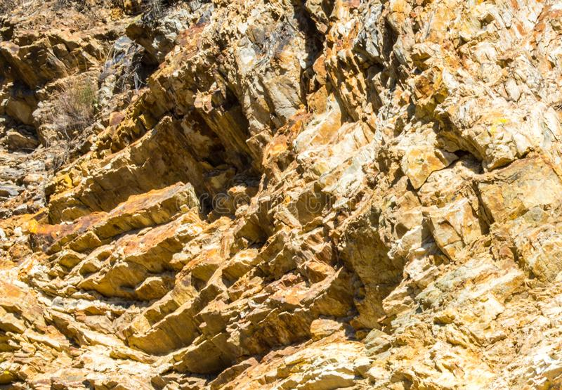 Jagged rocky hillside in California royalty free stock images