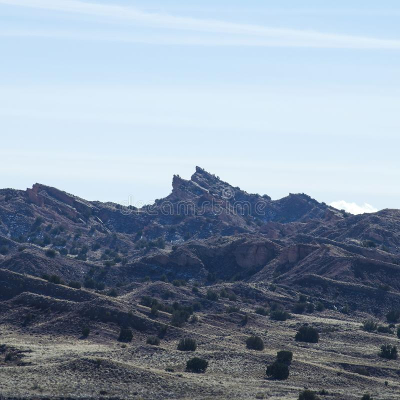 Jagged uplifts of sedimentary rock royalty free stock image