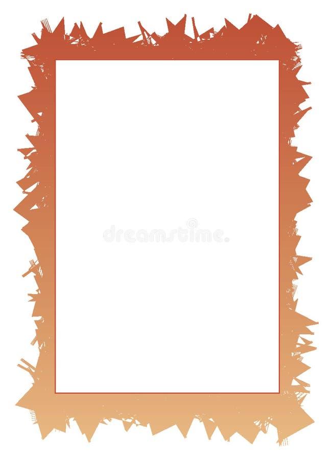 jagged white för kant ram stock illustrationer