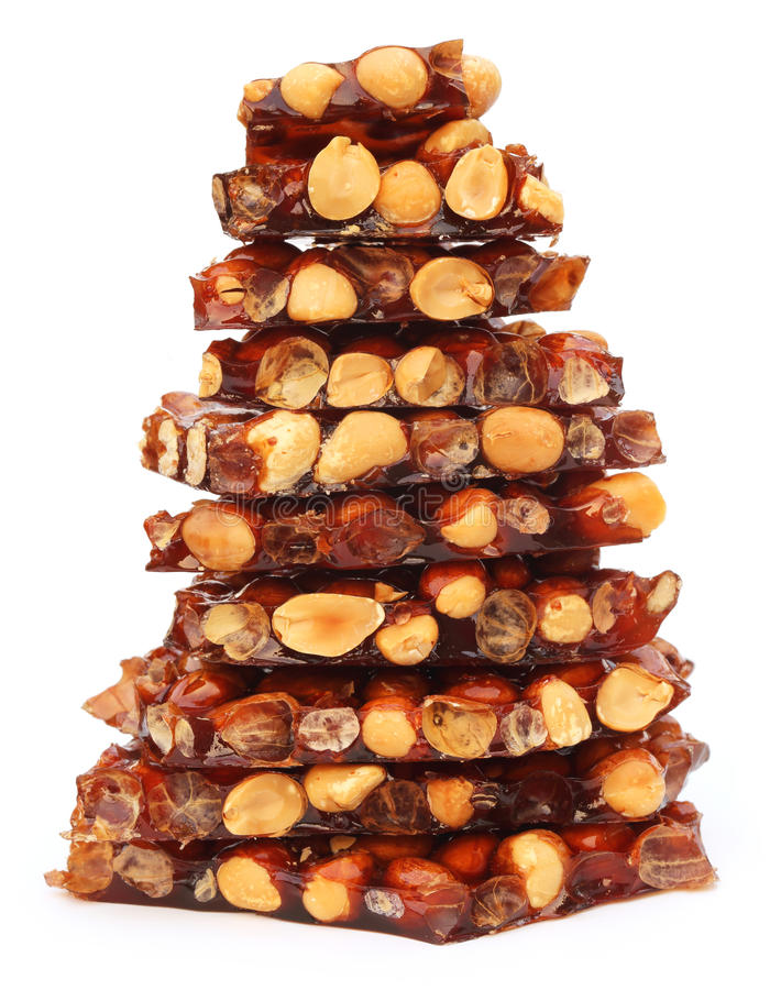 Jaggery cukierek z arachidami zdjęcie stock