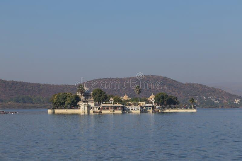 Jagmandir在乌代浦市,印度 库存图片