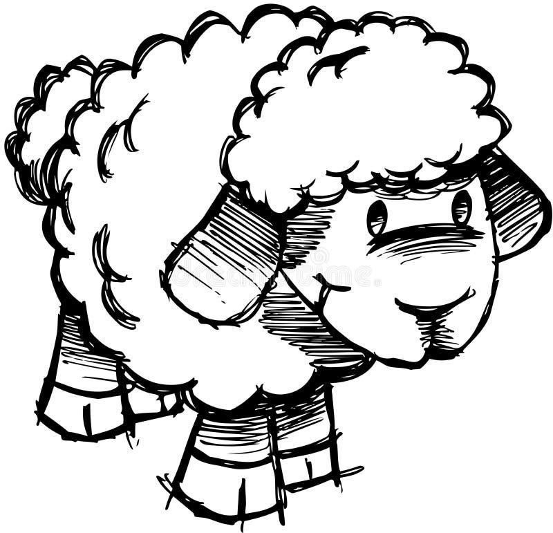 jagnięcy barani szkicowy wektor royalty ilustracja