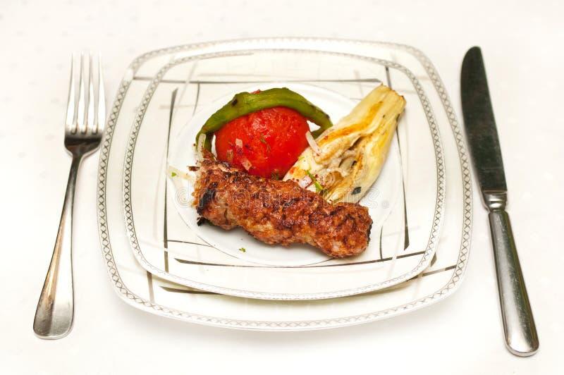 jagnięcy kebab lulya zdjęcia stock