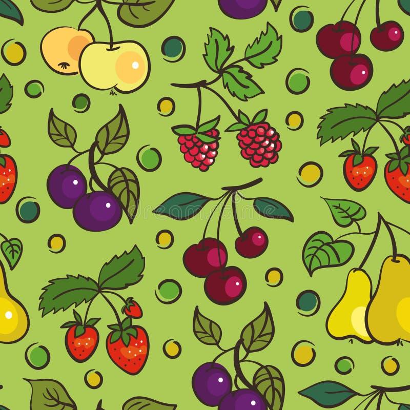 jagod owoc deseniują bezszwowego royalty ilustracja