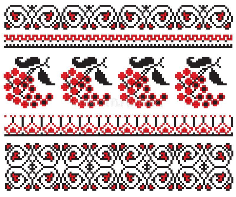 jagoda haftuje deseniowego ukrainian ilustracji