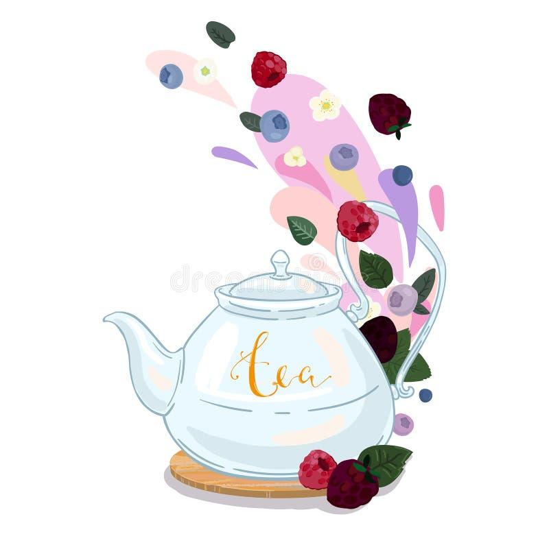 Jagodowa herbata obraz stock