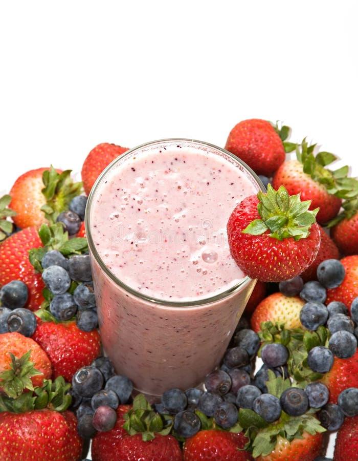 jagodowej owoc smoothie obrazy stock
