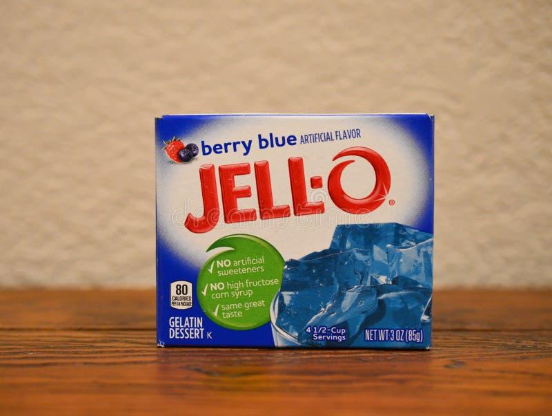 Jagodowy błękit Jell O deser zdjęcia stock