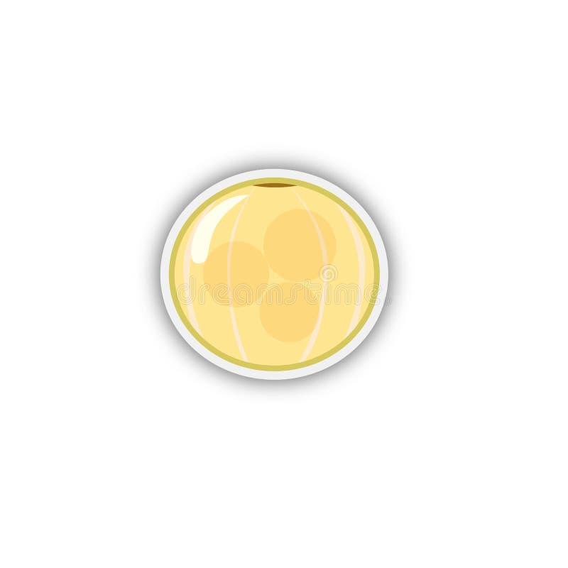 Jagodowy dziki porzeczkowy majcheru kolor żółty Wektor, esp10 ilustracji