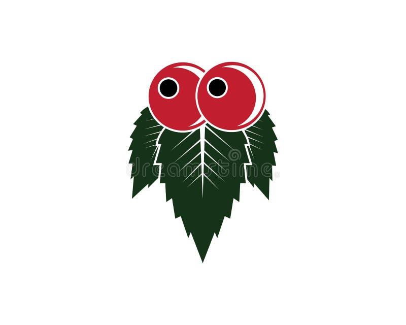 jagodowych owoc ikony wektoru szablon ilustracja wektor