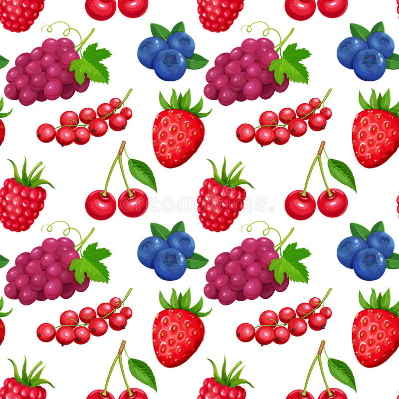 jagody deseniują bezszwowego ilustracji
