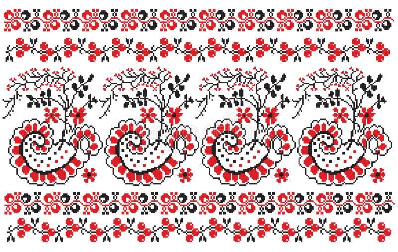 jagody haftują ukrainian ilustracji