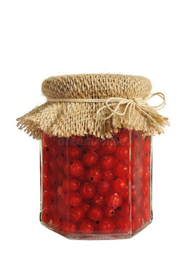 jagody konserwować słój porzeczkową czerwień fotografia stock