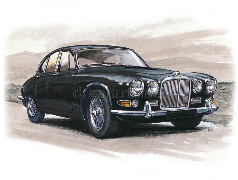 Jaguar 420 royaltyfri illustrationer