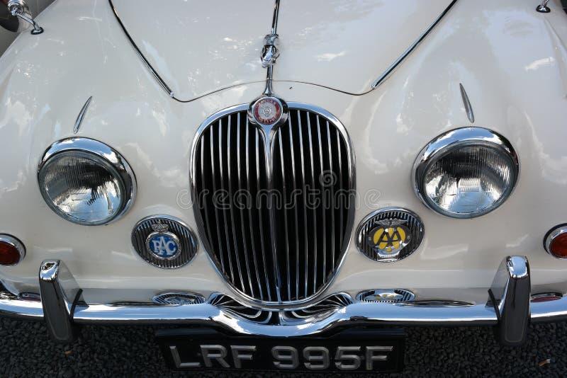 Jaguar-auto voortraliewerk stock foto's