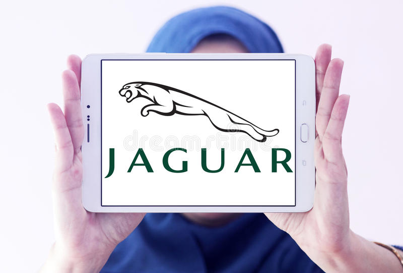 Jaguar-autoembleem stock fotografie
