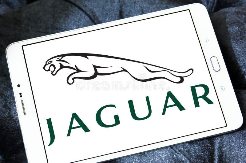 Jaguar-autoembleem royalty-vrije stock foto