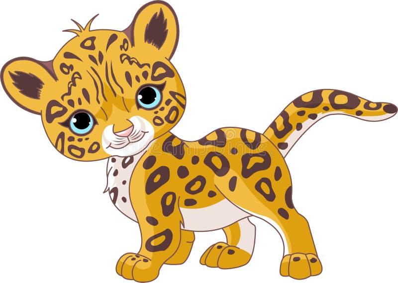Jaguar bonito Cub ilustração do vetor
