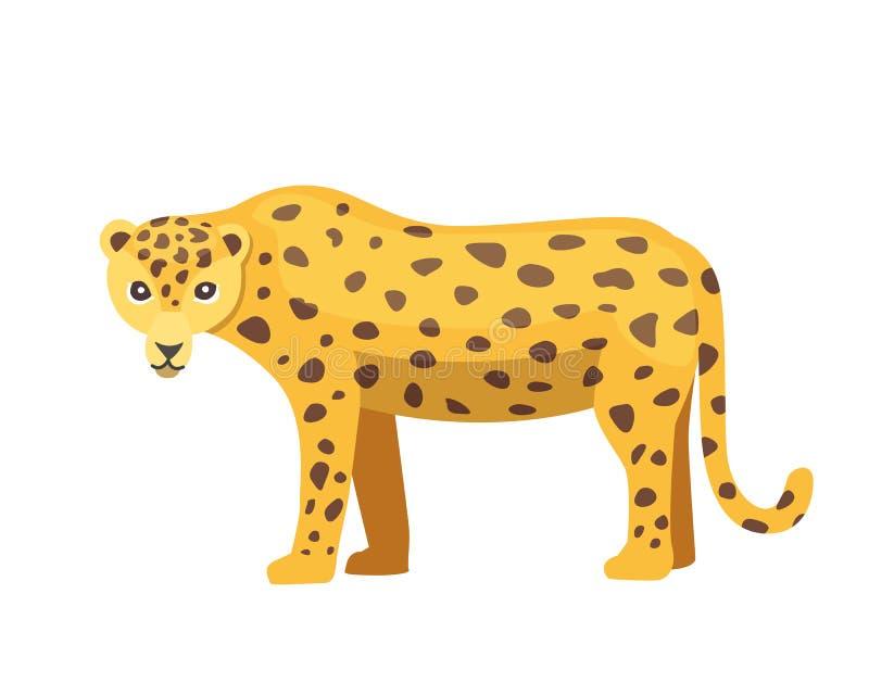 Jaguar cat panther cartoon illustration royalty free illustration