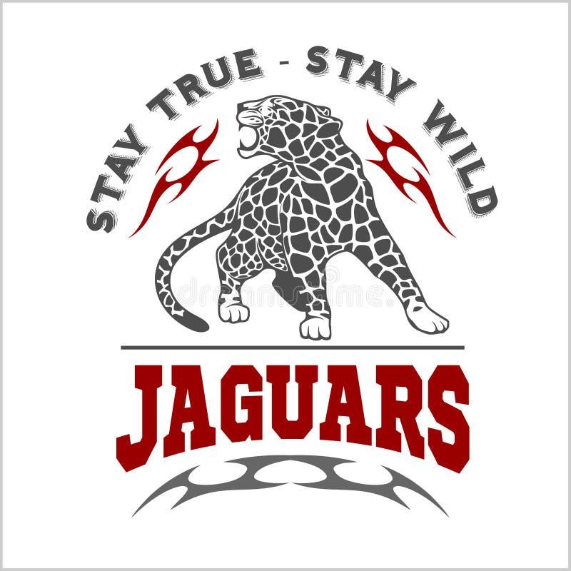 Jaguar e chama - logotipo do vetor ilustração royalty free