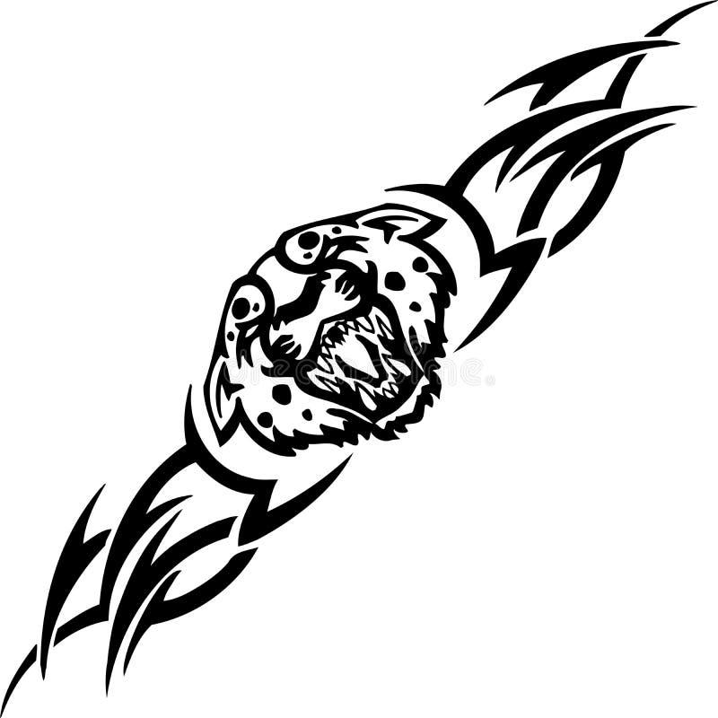 Jaguar e tribals - ilustração do vetor. ilustração do vetor