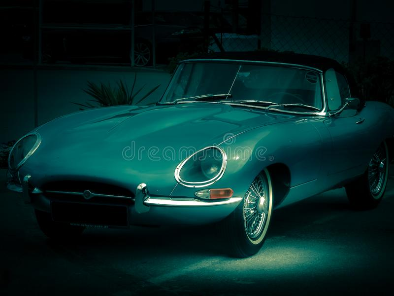 Jaguar E-Type, 1966 stock photo