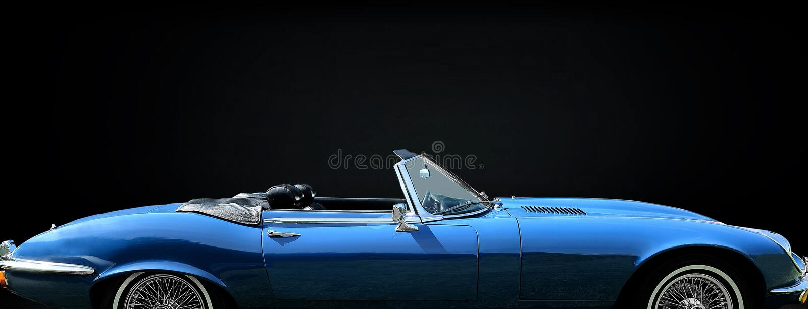 Jaguar E Type stock photo