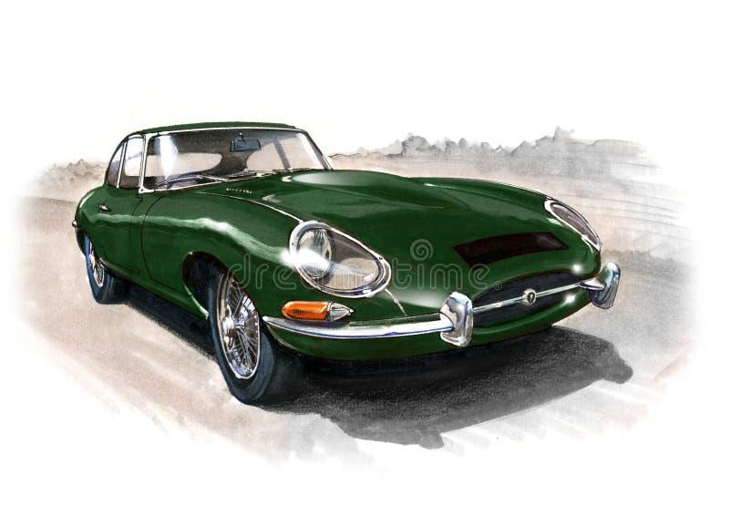 Jaguar E-Type (XKE) Series 1 stock illustration