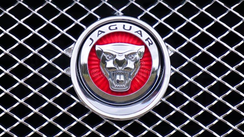 Jaguar-Emblem stockbilder