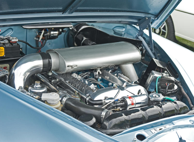 Download Jaguar Engine Seen At Ripley Rally. Editorial Image - Image: 15640530