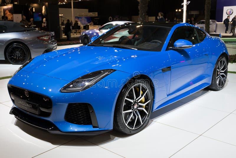 Jaguar F-typ sportbil royaltyfri foto