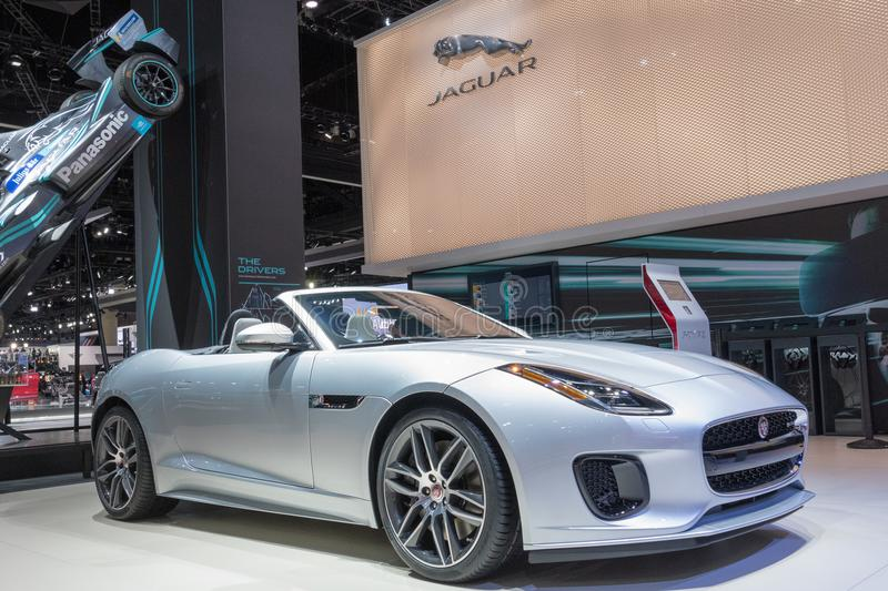 Jaguar F-TYPE on display during LA Auto Show royalty free stock photography