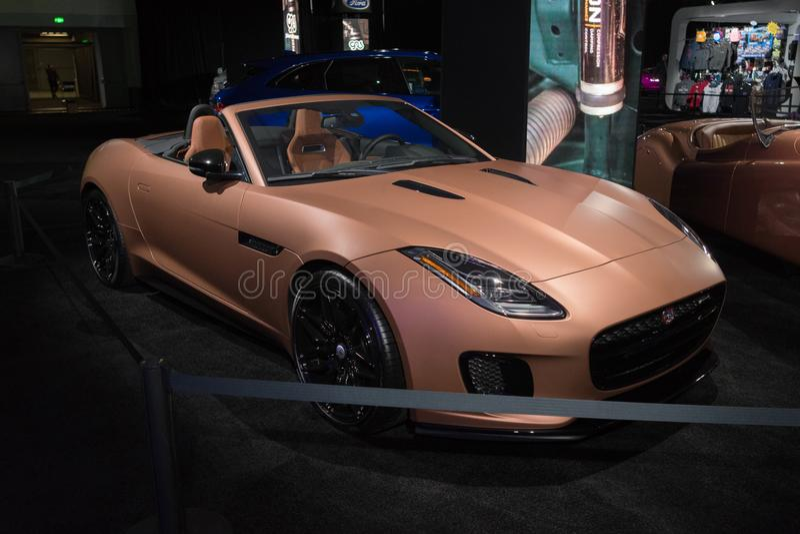 Jaguar F-Type on display during LA Auto Show royalty free stock photo