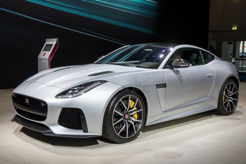 Jaguar F-TYPE SVR sportbil fotografering för bildbyråer