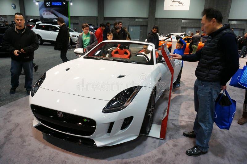 Jaguar F typsportbil arkivbilder