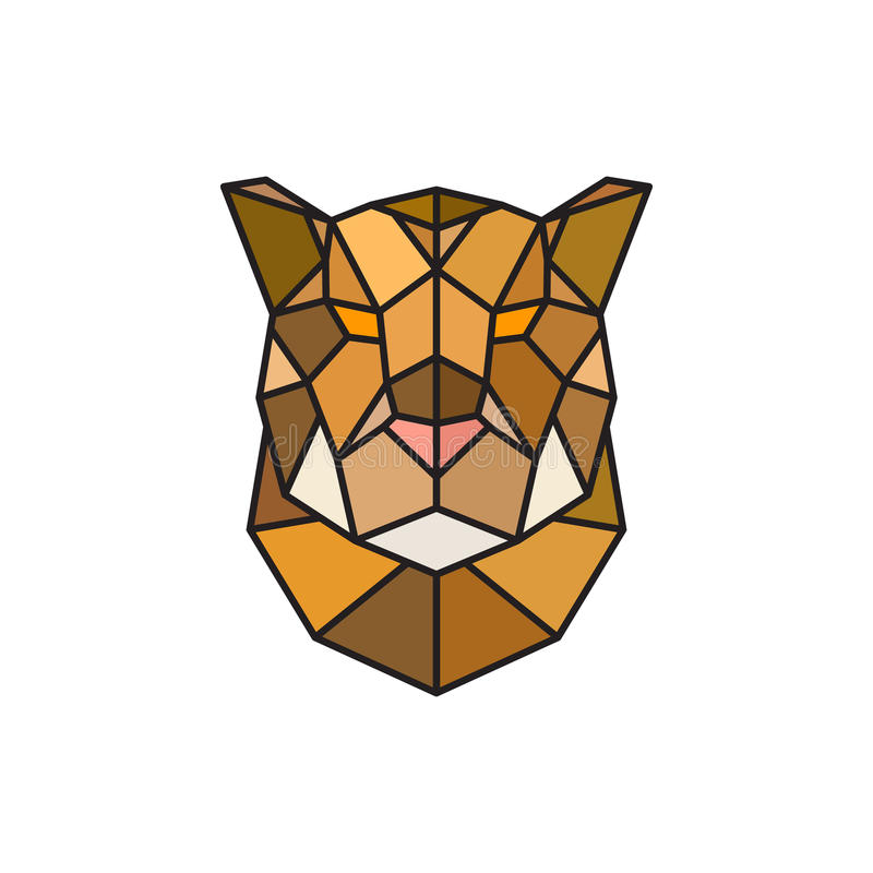 Jaguar-Kopflogoschablone für Geschäft stock abbildung