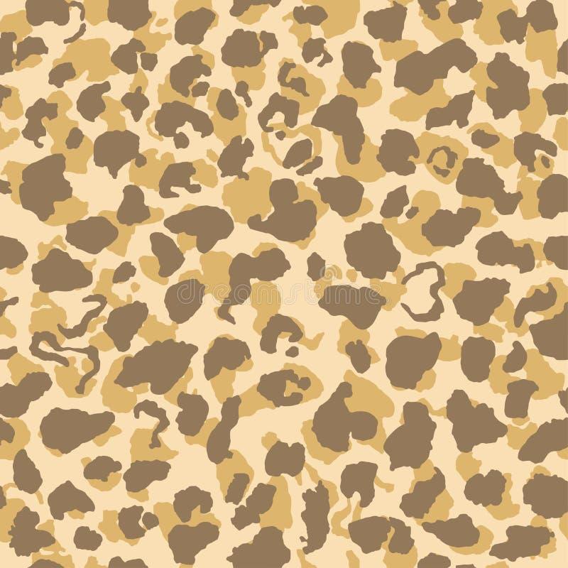 Jaguar or leopard skin pattern, repeating seamless texture. Animal print for Textile Design / Vector Illustration stock illustration