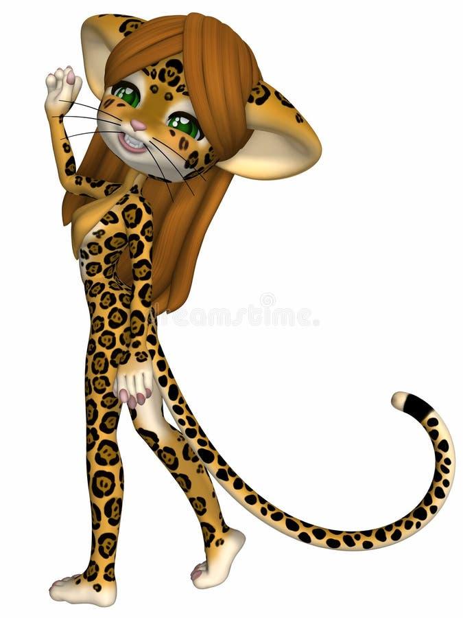 Jaguar mignon - chiffre de Toon illustration libre de droits