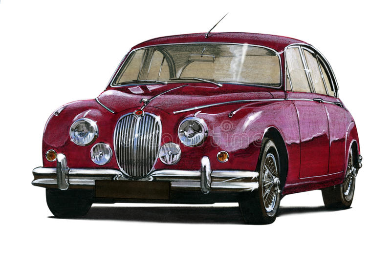 Jaguar MkII stock illustrationer