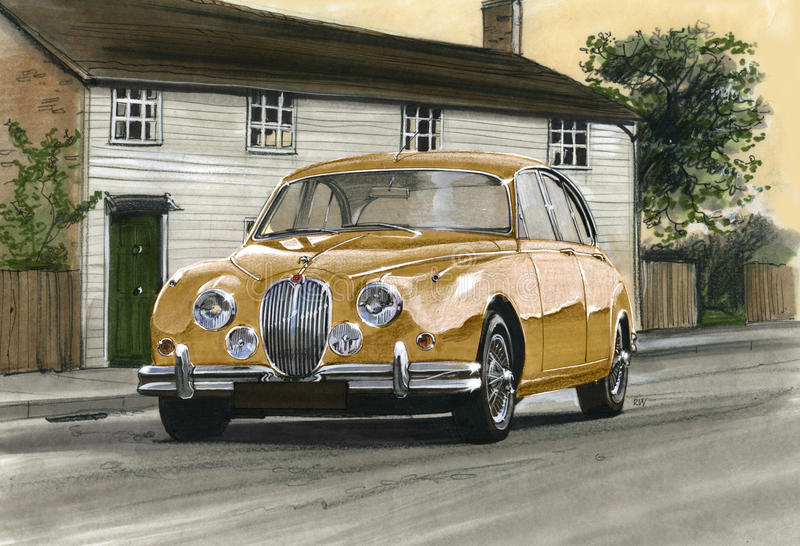 Jaguar MkII vektor illustrationer