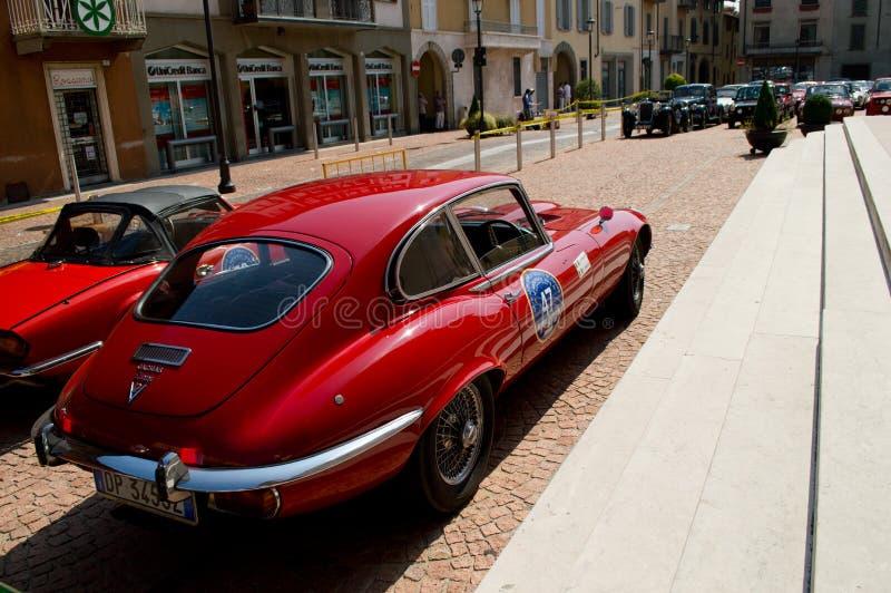 Jaguar MkII de type e au circuito di Zingonia 2014 photographie stock