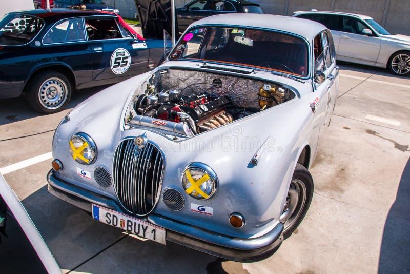 Jaguar MkII racing car stock photo