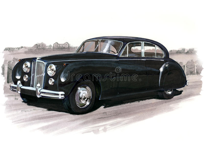 Jaguar MkVII (Mk7) vektor illustrationer