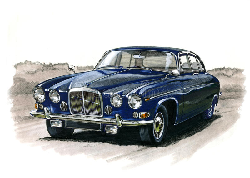 Jaguar MkX vektor illustrationer