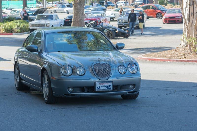 Jaguar S-type on display royalty free stock image
