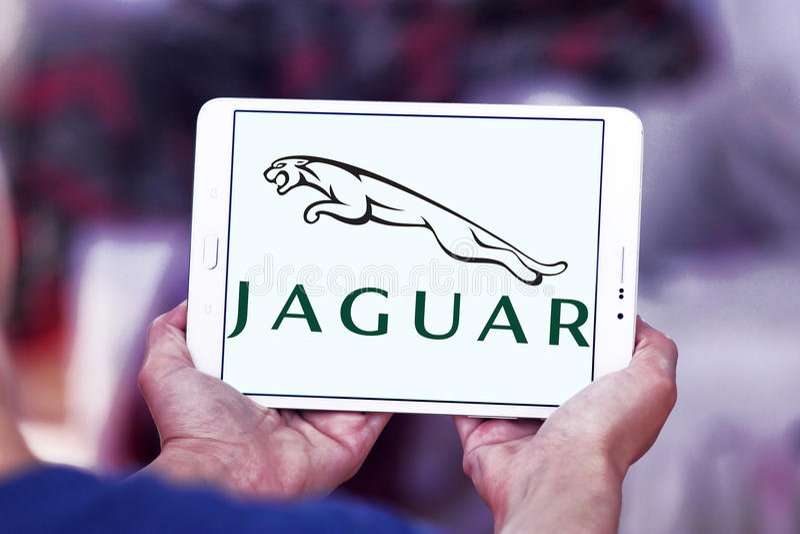 Jaguar samochodu logo obraz royalty free