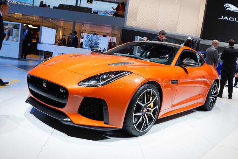 Jaguar SVR de type f images libres de droits