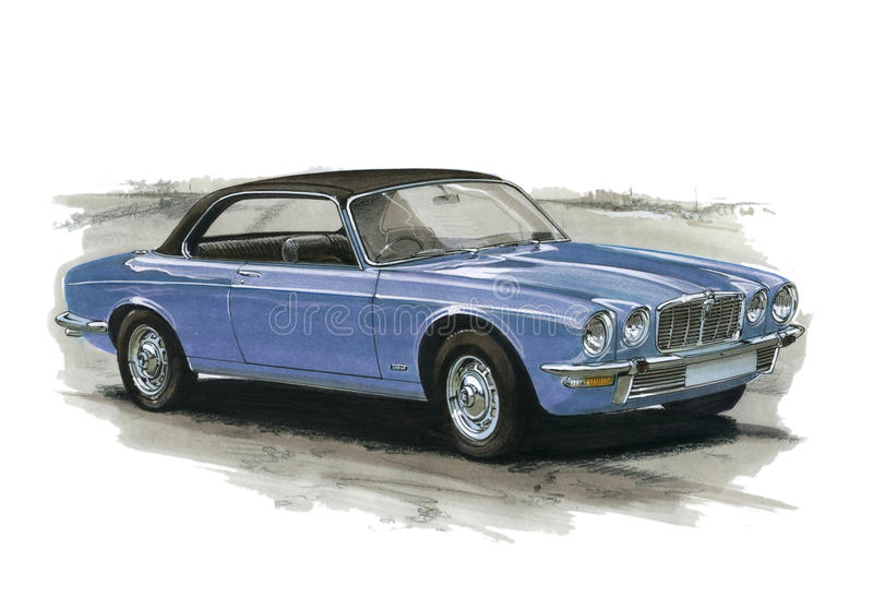 Jaguar XJ6 kupé vektor illustrationer