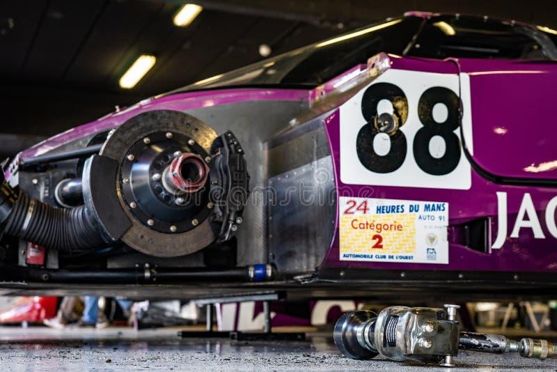 Jaguar XJR11 XJR Classic endurance racing group C in montjuic spirit Barcelona circuit car show.  stock images