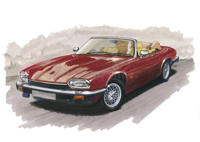 Jaguar XJS royalty free illustration